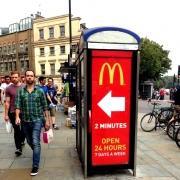 phone box advertising